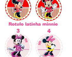 rotulo latinha 3D minnie