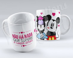 Caneca Amor Mickey e Minnie