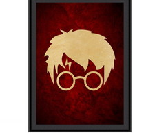 Quadro Harry Potter - Harry Vinho