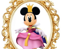 PLACA ELIPSE MINNIE ROSA PRINCESA