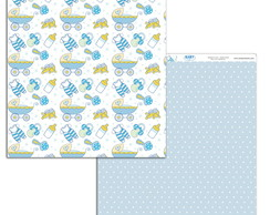 Papel Scrapbook Baby Boy 1un. #BB-04