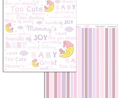 Papel Scrapbook Baby Girl 1fl. #BG-08