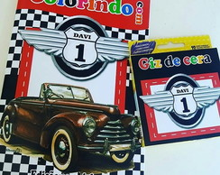 Kit Colorir - Carros Vintage
