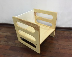Cadeira Cubo (Cube Chair) Tam.G Natural