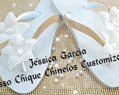 Chinelo Customizado Noiva