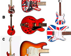 GUITARRA DECORATIVA PAREDE-EAGLE ENGLAND