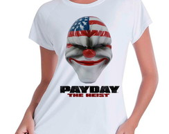 Camiseta Babylook Payday The Heist
