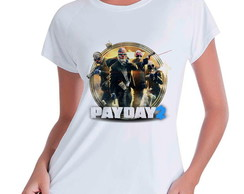 Camiseta Babylook Pay Day 2 Steam