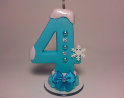 Vela Decorada Frozen