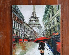 Quadro Torre Eiffel Red Umbrella