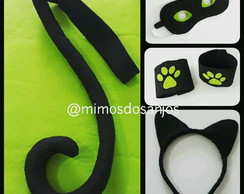 Kit Cat Noir Miraculous Completo Infanti