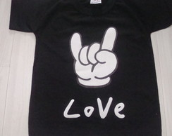 Trio camisetas rock love