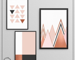 Set de Posters Escandinavos Rose Gold