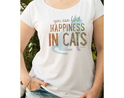 Camiseta Feminina Happiness In Cats