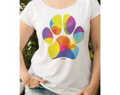 Camiseta Feminina Pata Colorida