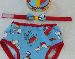 Conjunto smash the cake Snoopy