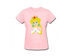 Camiseta Adulto Princesa Peach Mario