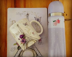 Kit caneca + mouse pad Paris
