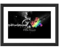 Quadro Pink Floyd Dark Side Banda 45x60