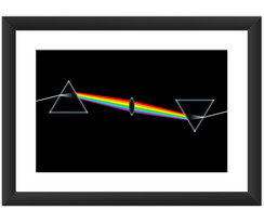 Quadro Pink Floyd Dark Side Lp Cd 45x60