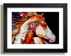 Quadro Cavalo Animal Floresta Decor F37