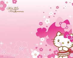 Painel Hello Kitty 1,20 x 1,00m