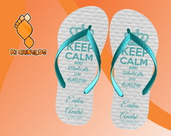 Chinelo Casamento Keep Calm