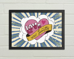 "Quadro / Placa Decorativa ""Love"""