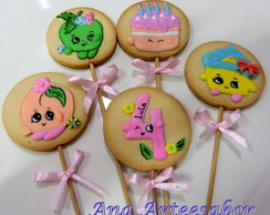 Biscoitos decorados - SHOPKINS