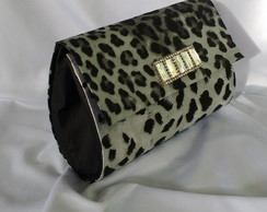 Clutch de Cetim Animal Print