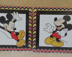 Kit quadros Mickey / mdf