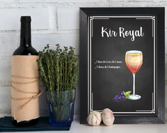 Quadro Decorativo MDF Drink Kir Royal