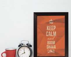 Quadro Decorativo MDF Frase Keep Calm