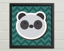 "Quadro / Placa Decorativa ""Panda"""