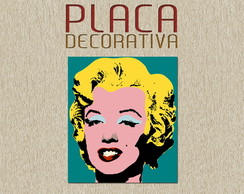PLACA DECORATIVA - MERILYN 02