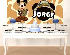 PAINEL FESTA INFANTIL SAFARI DO MICKEY