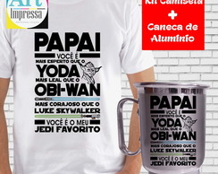 Kit Camiseta + Caneca Pai Star Wars
