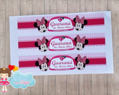 Rotulo Mini Refrigerante - Minnie