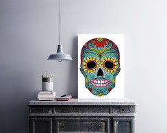 Placa decorativa MDF Caveira Mexicana