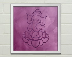 "Quadro / Placa Decorativa ""Ganesha"""