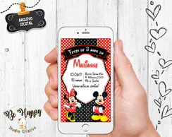 Convite whatsapp Mickey e Minnie