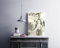"Placa decorativa ""David Bowie Kate Moss"""