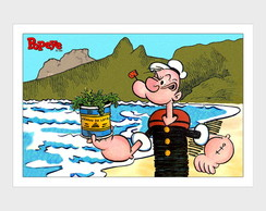 Poster P, M, G Popeye in Rio