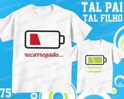 9fd70834e0 ... camiseta bateria carregando pai e filho