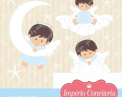 Kit Digital Scrapbook Batizado Anjo 5