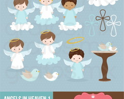 Kit Digital Scrapbook Batizado Anjo 11