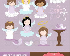 Kit Digital Scrapbook Batizado Anjo 12
