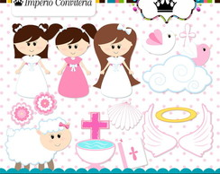 Kit Digital Scrapbook Batizado Anjo 21