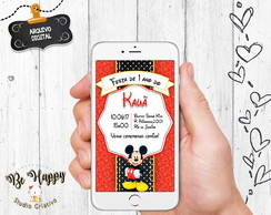 Convite digital whatsapp mickey disney