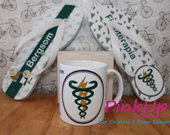 kit Caneca + Chinelo Fisioterapia